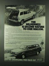 1979 Subaru 4 Wheel Drive Wagon Ad - The Wilderness - $14.99