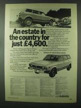 1979 Subaru 4-Wheel Drive Estate Ad - In the Country - $14.99
