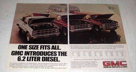 1981 GMC 6.2 Liter Diesel Ad - One Size Fits All - $14.99