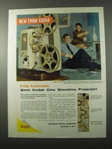1959 Kodak 8mm Cine Showtime Projector Ad - $14.99