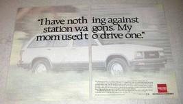 1992 GMC Jimmy SLT Ad - Nothing Against Station Wagons - $14.99