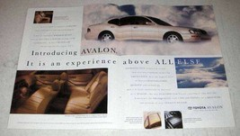 1994 Toyota Avalon Car Ad - Experience Above All Else - $14.99