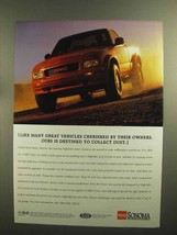 1995 GMC Sonoma Pickup Truck Ad - Collect Dust - $14.99