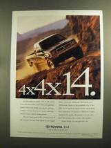 1994 Toyota 4x4 Pickup Truck Ad - 4x4x14 - $14.99