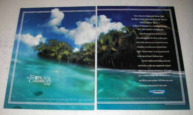 1995 Royal Caribbean Cruise Ad - Dreams Are Real