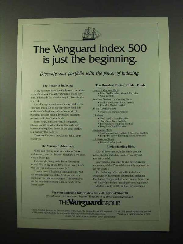 Primary image for 1996 The Vanguard Group Ad - Just the Beginning
