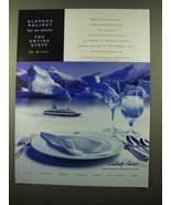2000 Celebrity Cruises Ad - Alaskan Halibut for Entre - $14.99