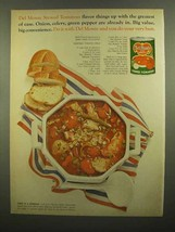 1965 Del Monte Stewed Tomatoes Ad - Seafood Stew - $14.99