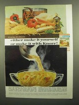 1965 Knorr Soup Ad - Either Make It Yourself or Knorr - $14.99