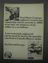 1966 Ford Motor Company Ad - Connecting Rods Accurate - $14.99