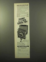 1970 Calumet 4x5 view camera Ad - Easiest to Use - $14.99
