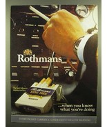 1973 Rothmans King Size Cigarettes Ad - You Know - $14.99