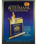 1973 Rothmans International Cigarettes Ad - $14.99