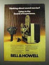 1976 Bell & Howell Filmosonic Camera and Projector Ad - $14.99