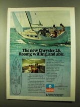 1978 Chrysler 26 and 22 Sailboats Ad - Roomy, Willing - $14.99