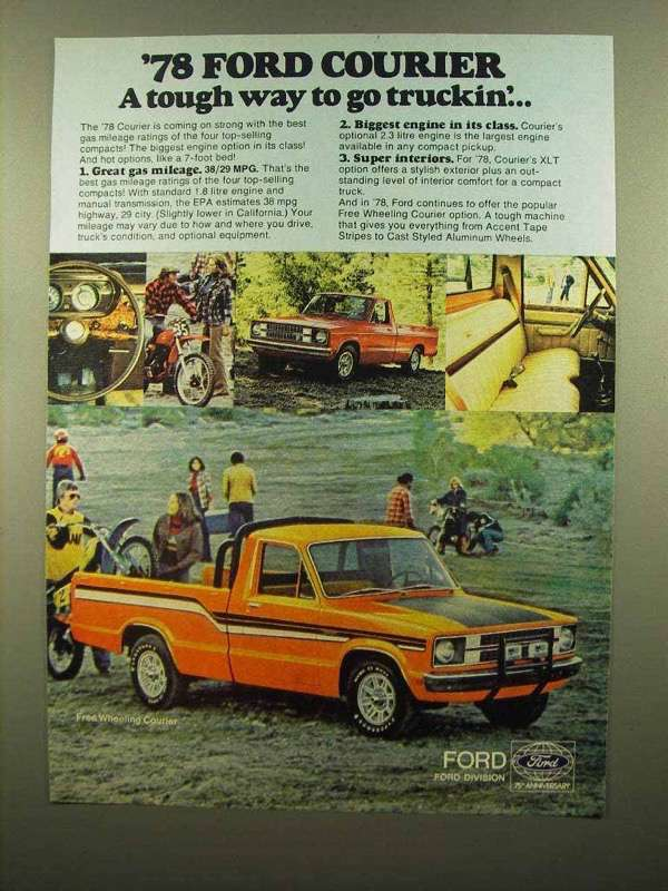 1978 Ford Free Wheeling Courier Pickup Truck Ad