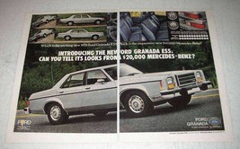 1978 Ford Granada ESS Ad - Tell it from Mercedes-Benz - $14.99