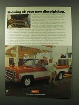 1978 GMC Diesel Pickup Truck Ad - Showing Off - $14.99