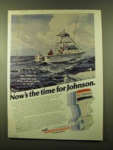 1978 Johnson 235 Outboard Motor Ad - Now's The Time - $14.99