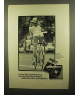 1979 John Player Special Cigarettes Ad - in German - $14.99
