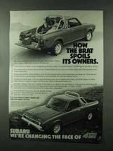 1979 Subaru Brat Ad - Spoils Its Owners - $14.99