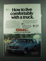 1984 GMC Suburban Ad - Live Comfortably With a Truck - $14.99