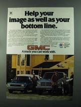 1984 GMC S-15 and C-Series Trucks Ad - Bottom Line - $14.99