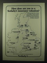 1984 Sotheby's Insurance Ad - How Close Are You - $14.99