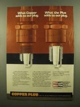 1985 Champion Copper Plus Spark Plugs Ad - Adds - $14.99