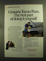 1990 Toyota Genuine Parts Ad - Doing it Yourself - $14.99
