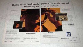 1991 General Motors Ad - Passion Drives to Build More - $14.99
