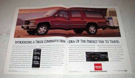 1992 2-page GMC Suburban Ad - Perfect Way To Travel - $14.99