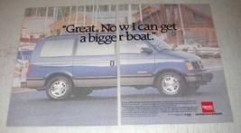 1992 GMC Safari XT Ad - Now I Can Get A Bigger Boat - $14.99