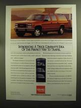 1992 GMC Suburban Ad - Idea of the Perfect Way To Travel - $14.99
