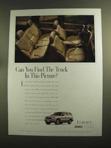1998 GMC Jimmy SLT Ad - Can You Find Truck in Picture - $14.99