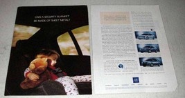2003 GM OnStar Ad - Security Blanket of Sheet Metal - $14.99