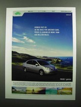 2003 Toyota Prius Car Ad - Race for Greener Cars - $14.99