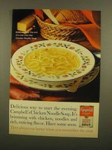 1965 Campbell's Chicken Noodle soup Ad - Delicious Way - $14.99