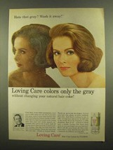 1965 Clairol Loving Care Hair Color Lotion Ad - Wash It - $14.99