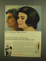 1965 Clairol Loving Care Hair Color Lotion Ad - $14.99