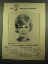 1965 Clairol Condition Ad - Do You Have To Hide Hair - $14.99