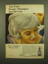 1965 Clairol Shampoo for Gray Hair Ad - First Beauty - $14.99