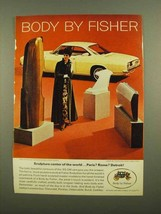 1965 GM Body By Fisher Ad, Chevy Corvair Monza Coupe - $14.99