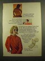 1965 Max Factor Creme Puff Make-Up Ad - Sunlit Look - $14.99