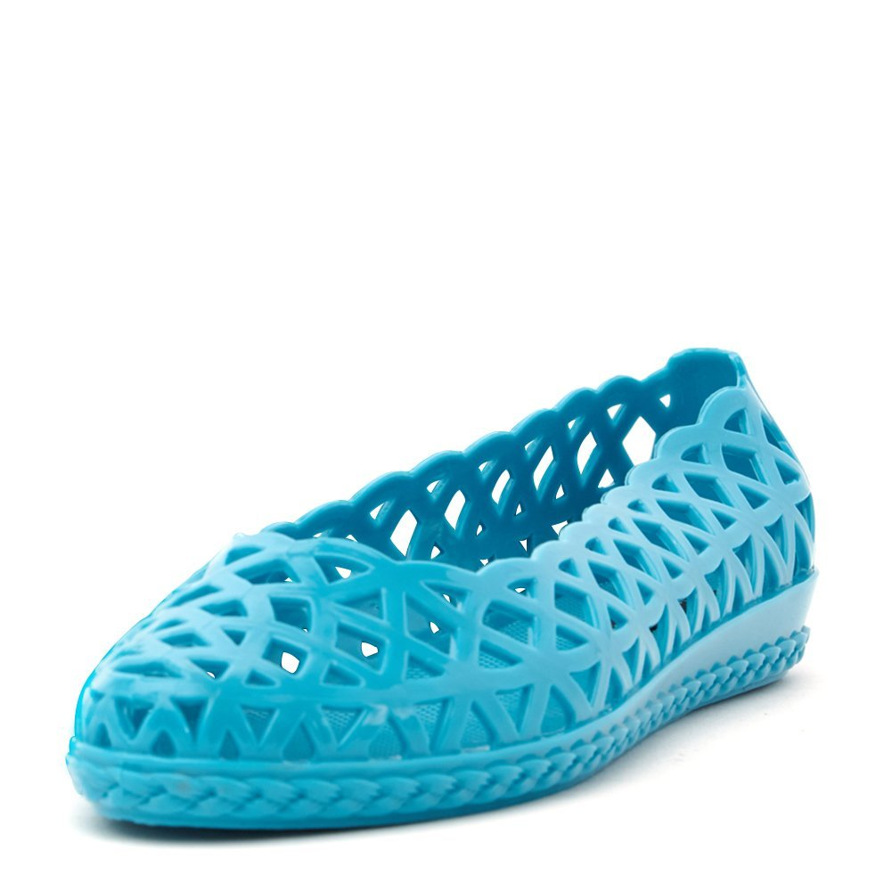 Jeffrey Campbell Women's Jelly Jam Flat Shoes JELLY-JAM Turquoise, 8 (B)