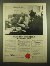 1965 Investors Syndicate Life Ad - Talking Like This - $14.99
