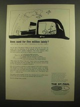 1965 The St. Paul Insurance Ad - Sued for Five Million - $14.99