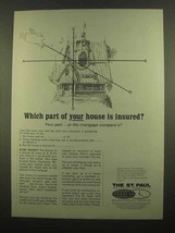 1965 The St. Paul Insurance Ad - Which Part Insured? - $14.99