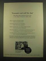 1965 Warner & Swasey Bar Automatics Ad - Economics - $14.99