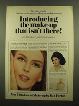 1965 Max Factor UltraLucent Make-Up Ad - Isn't There - $14.99